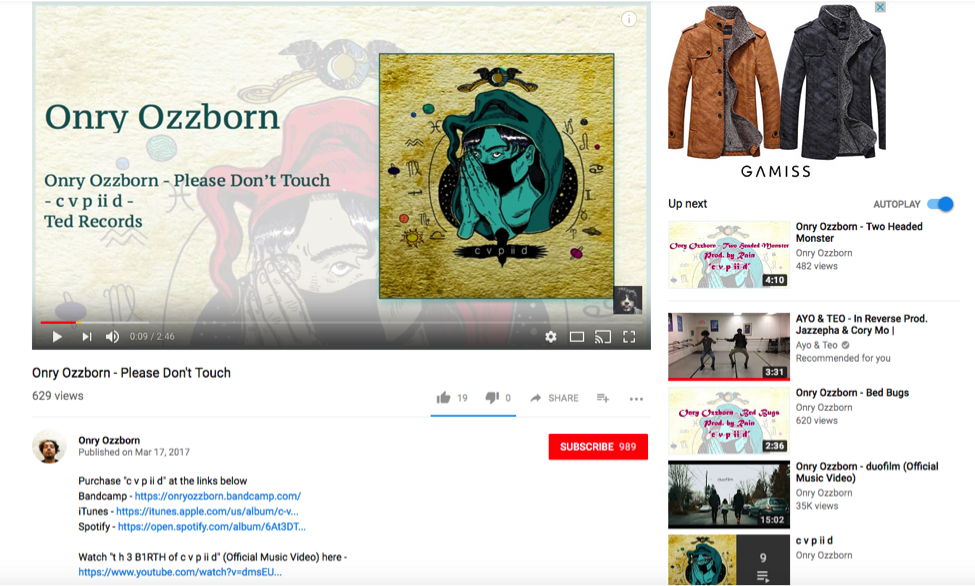 User-Generated YouTube Art Track